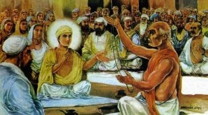 Guru Nank rejecting the janeu