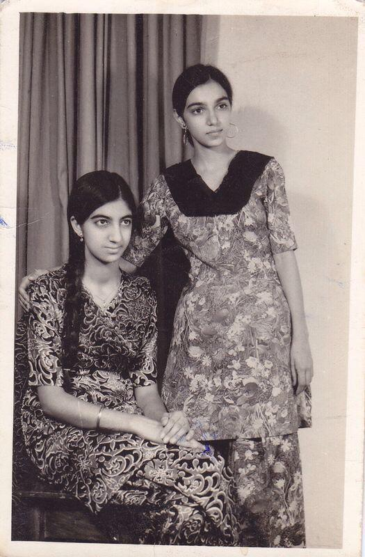 Circa 1970. Sisters Arvinder Kaur Bedi and Amardeep Kaur. Taken during a road trip to Kashmir. Source: Sukhmeet Singh's private collection.