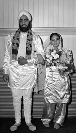 1952. Newlywed Sikh Couple in Chilliwack, Canada. Photo by Leon Holt of the Province Newspaper. Source: Vancouver Public Library.