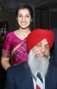 Mehr and her father, Sarabpreet Singh