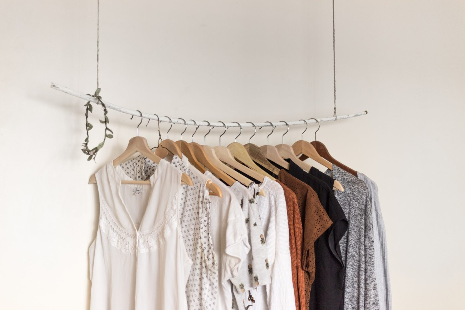 Clothing on a a rack