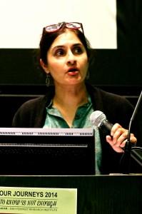 Dr. Sangeeta Luthra presents her paper:  Out of the Ashes: Sikh American Civil Society and the Promise of Gender Equality