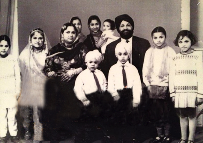 1971. Leeds. Surjit Kaur and her husband Bahadur Singh Landa. Together, they raised nine children. Source: http://gt1588.com/home-abroad-passing-of-a-pioneer/