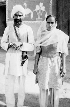 1950. Punjab. Jaswant Kaur and her husband, Harchand Singh Brar.