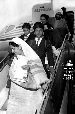 Sikh families fly to the UK from Kenya. 1972. Source: http://www.sikhchic.com/books/article-detail.php?id=2930&cat=12