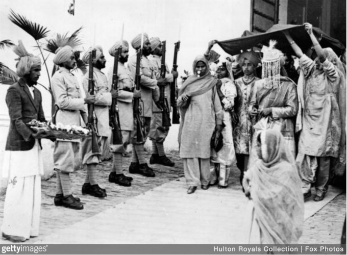 The wedding of the Indian Prince and heir to the Jind state Shri Yuvaraj Rajbir Singh Sahib Bahadur to the daughter of Nawab Sardar Umrad Singh, Chief of Manauli at Sangrur and at Ambala. 1939.