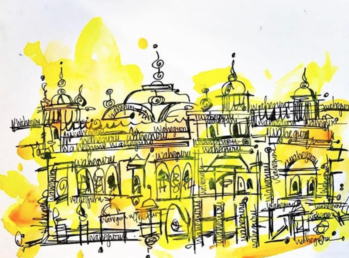 Sikh Art Harmindar Sahib Golden Temple